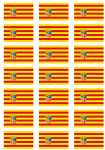 Aragon Flag Stickers - 21 per sheet
